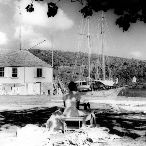 A look at Nelson's Dockyard in the early 1950s. Photo by Desmond Nicholson.