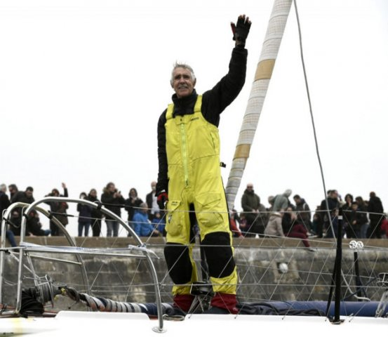 Rich Wilson finishes the Vendee Globe