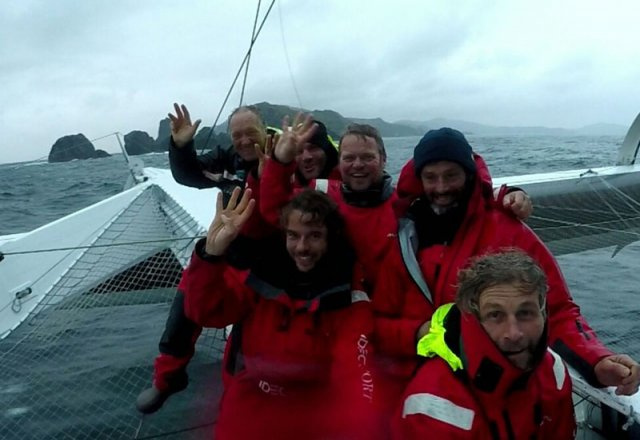 Joyon and Crew at Cape Horn
