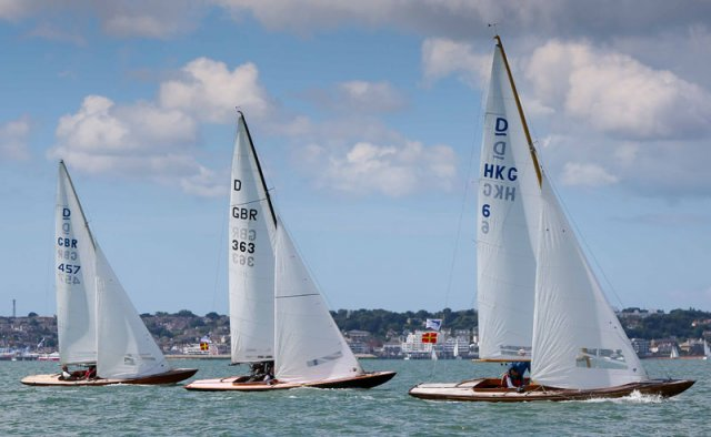 Dragons at Cowes Classics Week. Photo by  Jake Sugden