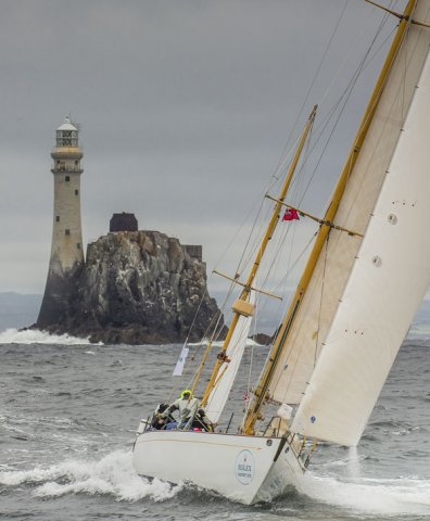 Dorade racing in the 2015 Rolex Fastnet Race. Photo by Rolex / Daniel Forster