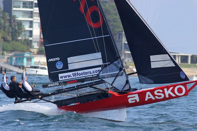 18ft Skiffs NSW Championship, Race 3